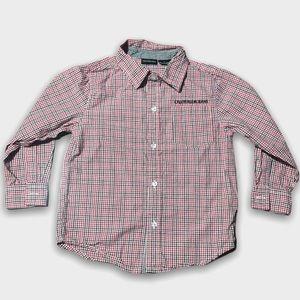 Calvin Klein Jeans Red Checkered Button Down Shirt